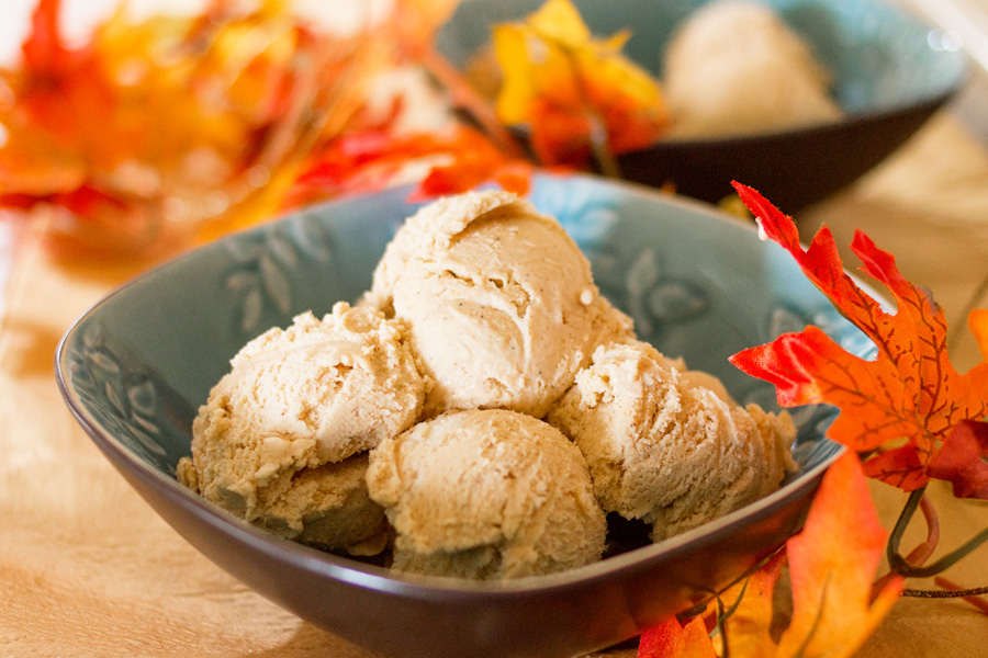 Pumpkin Pie Ice Cream by Ice Cream Inspiration. If you love pumpkin pie, you will love this ice cream even more! Pumpkin puree with all the spices you love from a pumpkin pie, along with real pie crust pieces put this amazing ice cream over the top! Be sure to add this to your holiday repertoire!