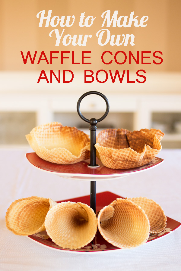 With the right tools and ingredients, anyone can make waffle cones and bowls at home! This step-by-step tutorial with pictures shows you exactly how to get light, crispy bowls and cones, perfect for holding your favorite ice cream!
