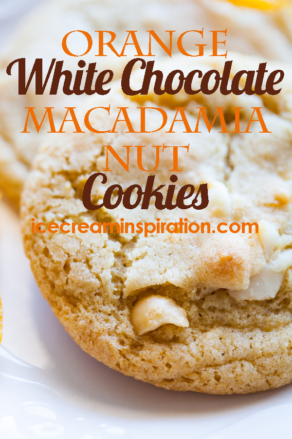 Orange White Chocolate Macadamia Nut Cookies are a new twist on the classic cookie we all love so well! With orange peel and orange essential oil (or extract), these cookies need to be in your cookie repertoire! Macadamia nut cookies, white chocolate cookies, orange cookies, Christmas cookies