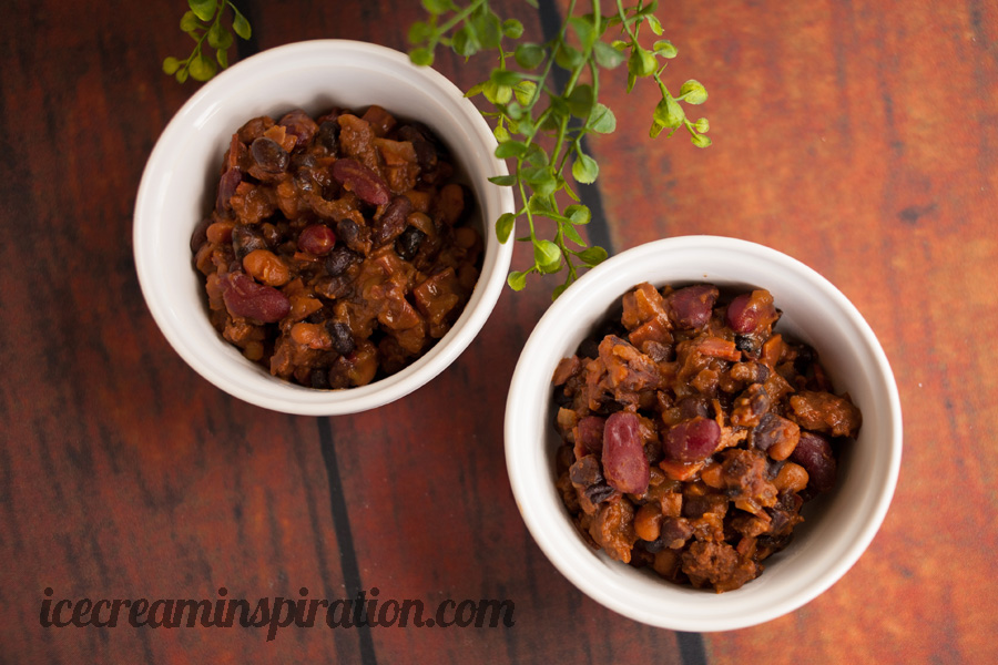 "The Best Darn Beans You Will Ever Eat. Brown sugar is mixed with bacon, hamburger, onions, and three types of beans. Add a few other ingredients and throw it all in the slow cooker for only an hour, and you have what might as well be called ""dessert beans."" Put these on your 4th of July menu right away! They are sure to be a hit at any barbecue or picnic!"