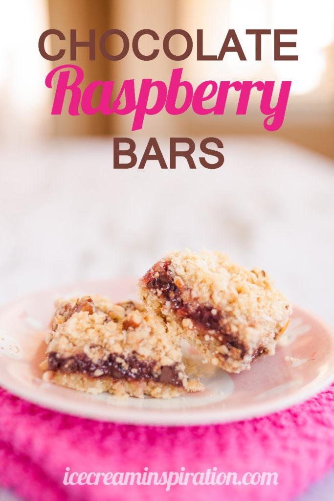Chocolate Raspberry Bars by Ice Cream Inspiration