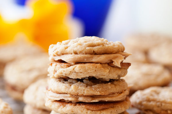 Peanut Butter Cream Sandwich Cookies