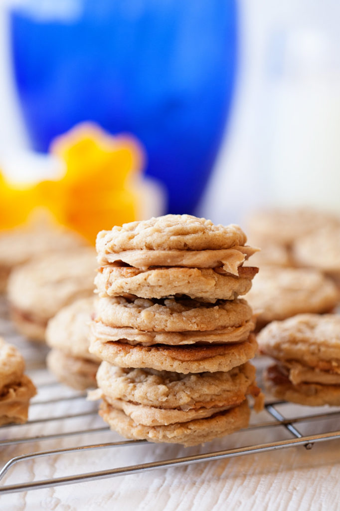 These Peanut Butter Cream Sandwich Cookies are like Girl Scout cookies, but even better!