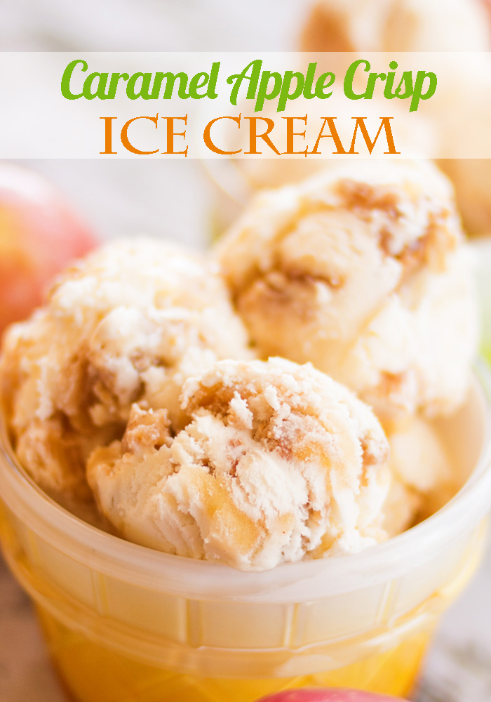 Caramel Apple Crisp Ice Cream by Ice Cream Inspiration