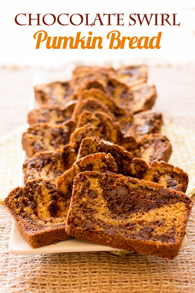 It's chocolate. It's swirled. It's pumpkin bread like you've never had before.