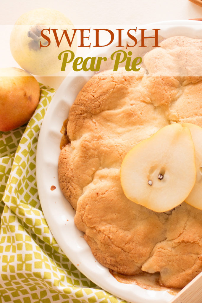 The easiest, most delicious crust-less pie you will ever make! Save those pears!