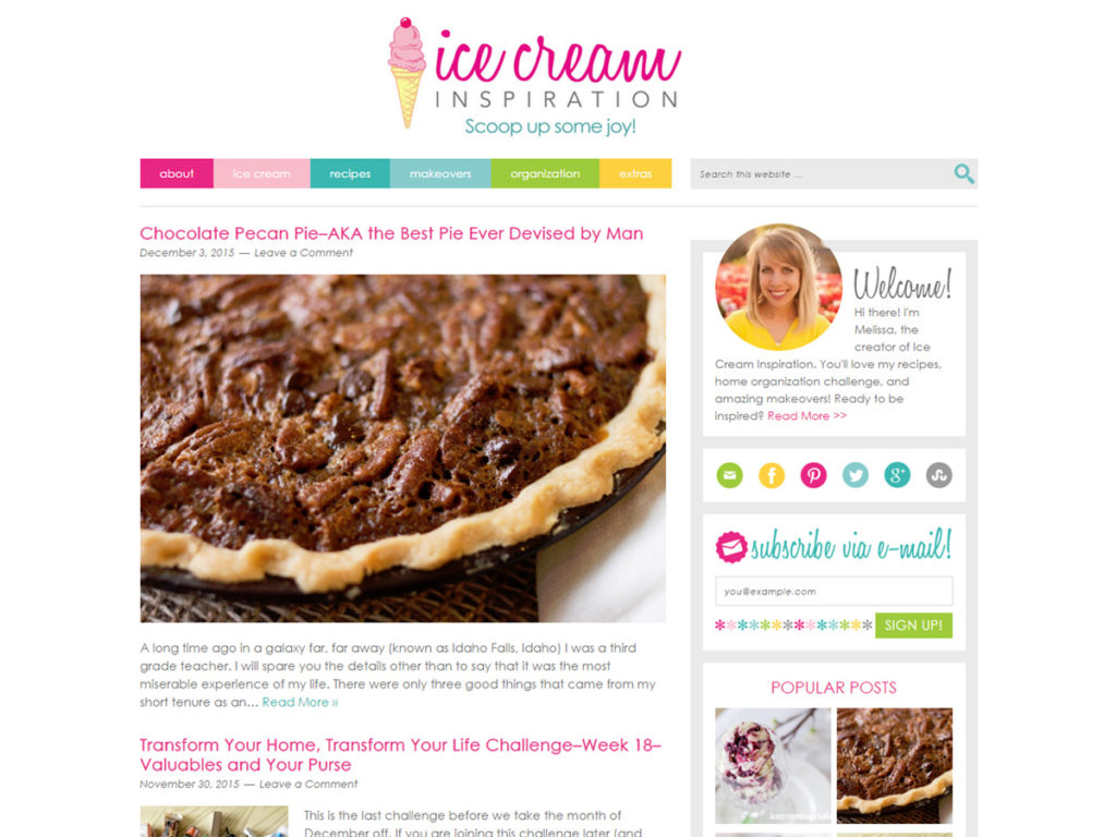 Come see this gorgeous blog all about homemade ice cream, makeovers, and home organization! It's truly inspiring!