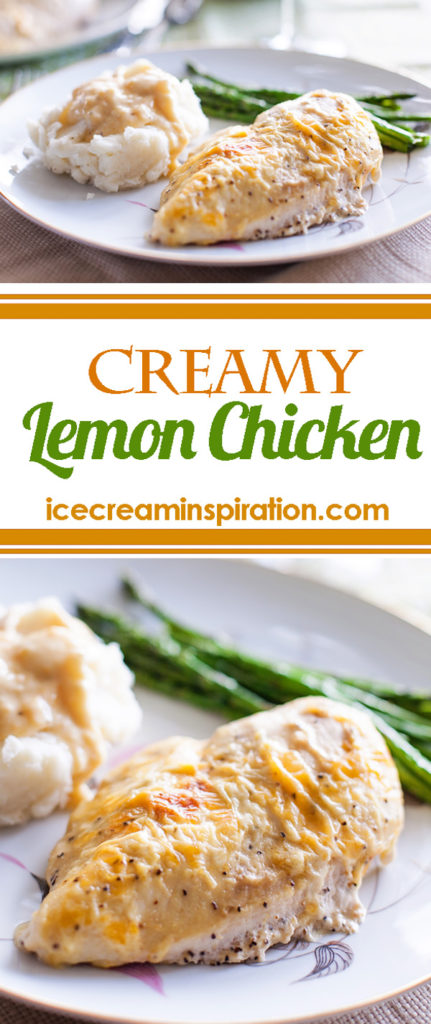 Creamy Lemon Chicken by Ice Cream Inspiration. Amazingly delicious, and my most requested recipe!