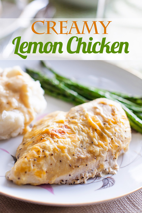Creamy Lemon Chicken by Ice Cream Inspiration. You've never had chicken like this before!