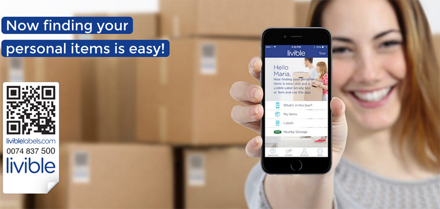 Livible Labels are the miraculous solution to all your moving and organizing nightmares! Just scan the code to know exactly what is in your boxes!