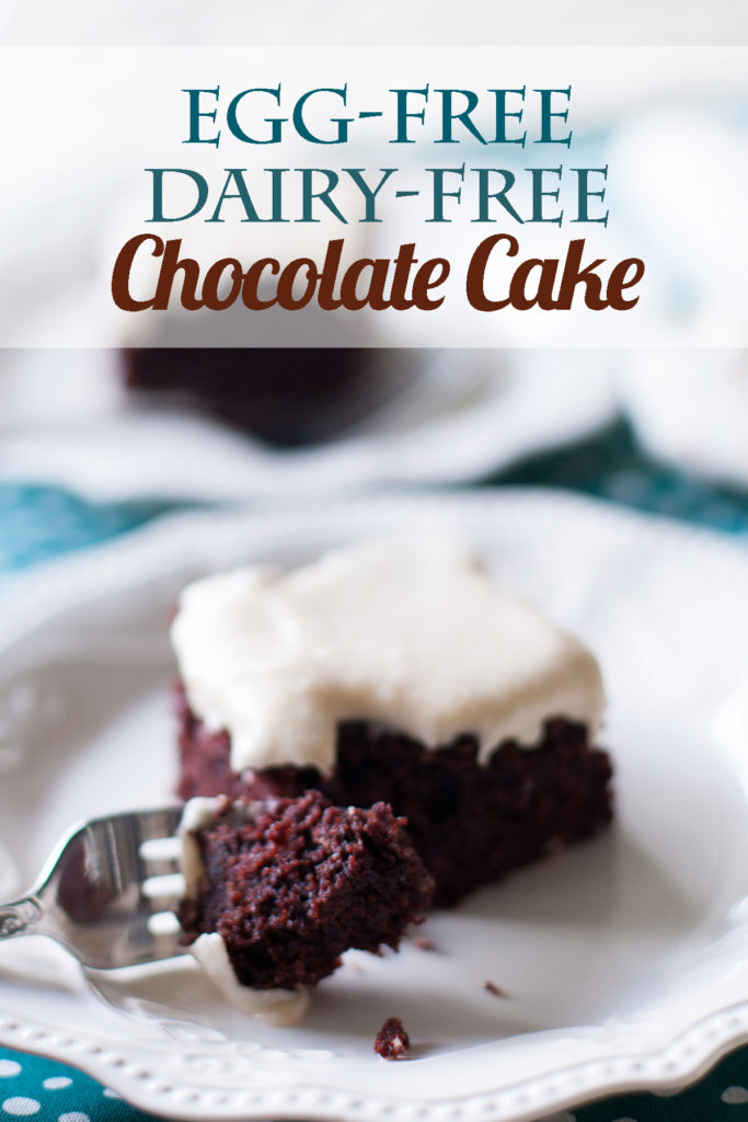This Egg-Free Dairy-Free Chocolate Cake is the perfect allergy-friendly dessert! Moist and dense, it is the best chocolate cake recipe, whether you have allergies or not!