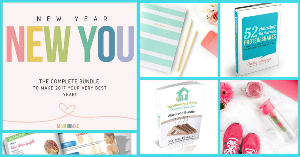 New Year, New You Bundle 2017. Everything you need to accomplish your New Year's Resolutions for 2017.
