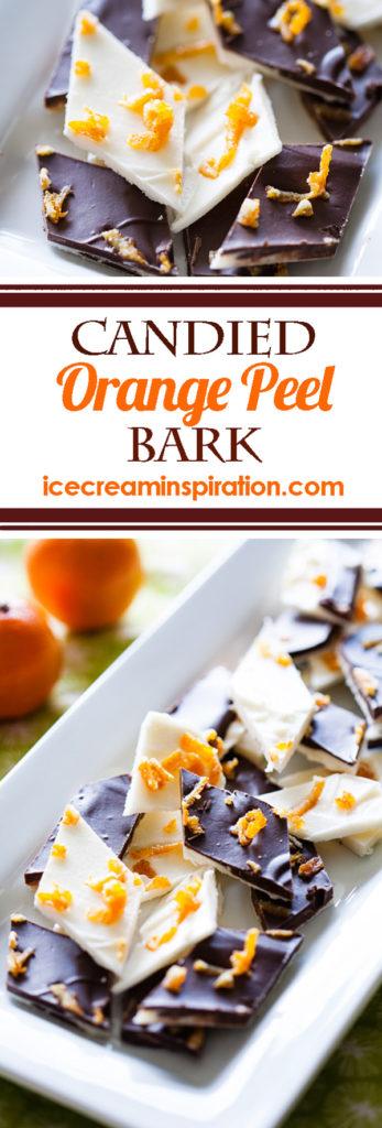 Candied Orange Peel Bark, Christmas almond bark, chocolate almond bark, Christmas candy