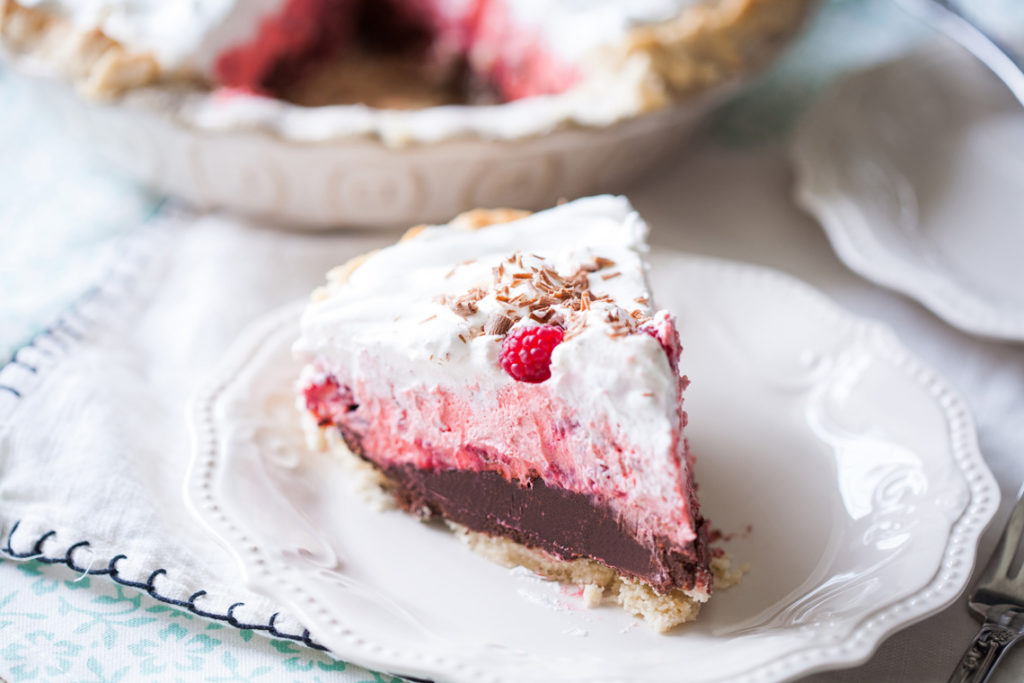 Chocolate Raspberry Cream Pie - Ice Cream and Inspiration