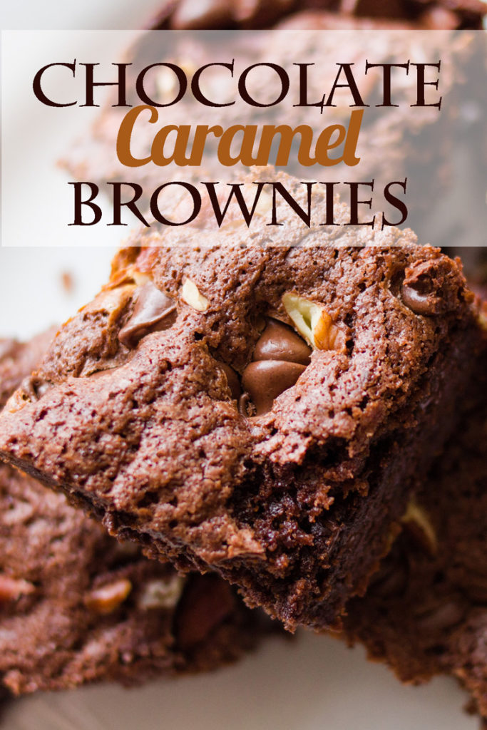 This decadent Chocolate Caramel Brownies recipe will make it into your brownies hall of fame! Rich and gooey, they're a heavenly treat! Chocolate brownies recipe, caramel brownies recipe, turtle brownies recipe