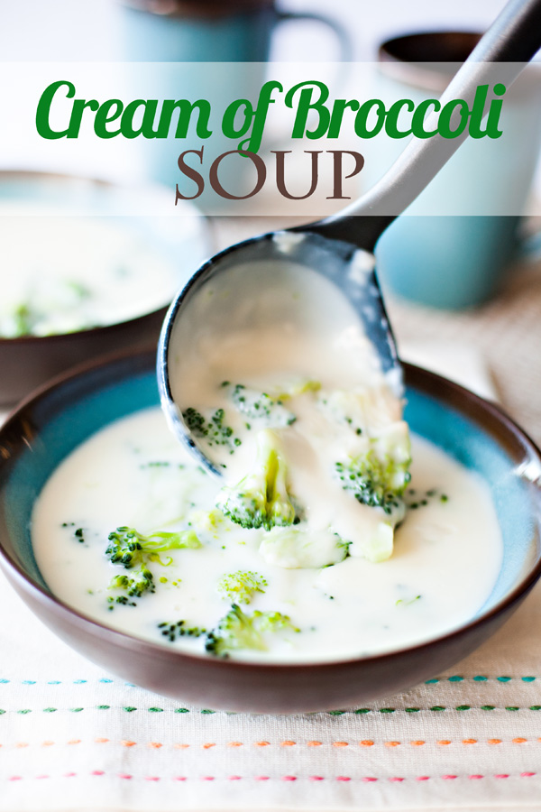 This easy, healthy Cream of Broccoli Soup recipe will become your new family favorite! Made with vibrant, nutrient-dense broccoli, it's a dinner you can feel good about serving your family.