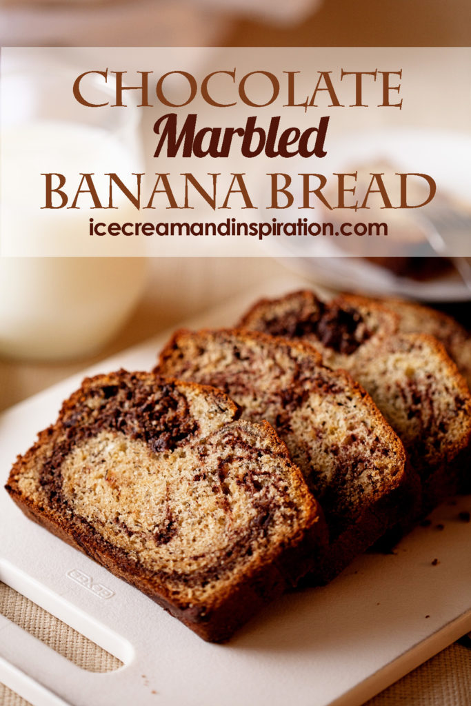 This Chocolate Marbled Banana Bread is classic banana bread with a ...