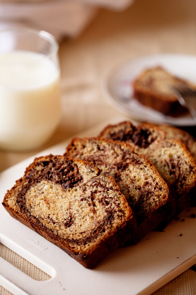 What could make banana bread better? This Chocolate Marbled Banana Bread is classic banana bread with a delicious ribbon of chocolate.