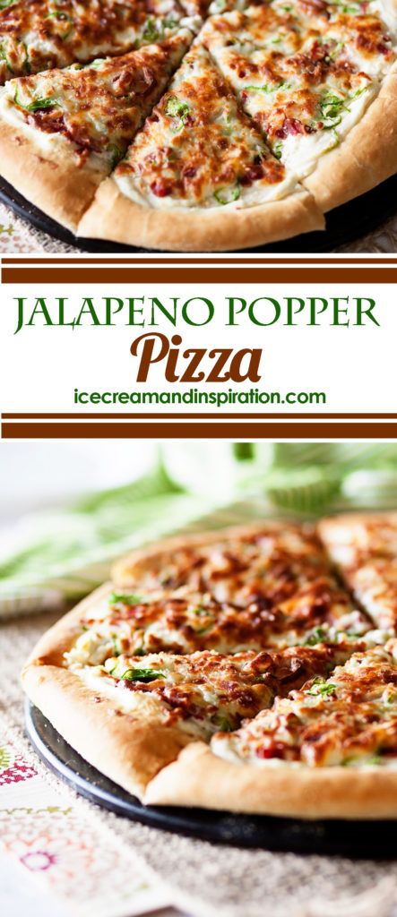 If you love pizza and you love jalapenos, then this Jalapeno Popper Pizza is the perfect pizza for you! Topped with jalapenos, bacon, onions and cheese, it's an amazing appetizer or dinner! Perfect pizza dough, jalapeno pizza, pizza recipe