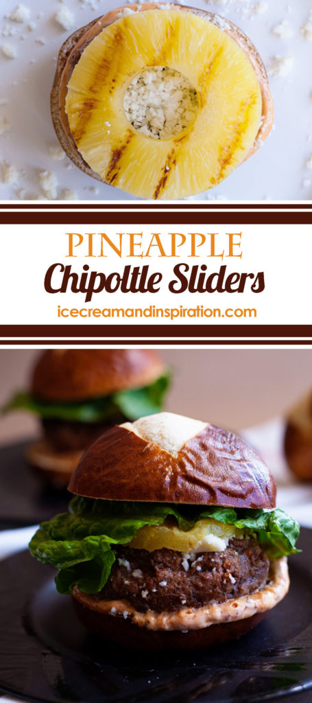 Add these tangy, spicy Pineapple Chipoltle Sliders to your collection of hamburger slider recipes. You'll be the star of the barbecue! Slider recipes, hamburger recipes