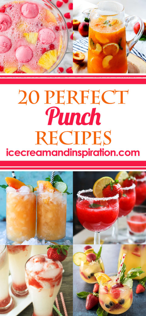 If you're looking for the best non-alcoholic punch recipes, this list of 20 Perfect Punch Recipes has you covered! Party punch recipes, best punch recipe