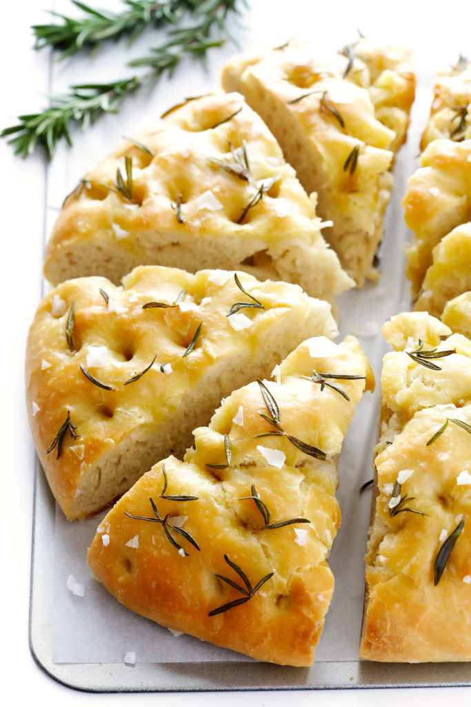 Rosemary Focaccia Bread by Gimme Some Oven. Ali Ebright was one of the presenters at the Everything Food Conference 2017.