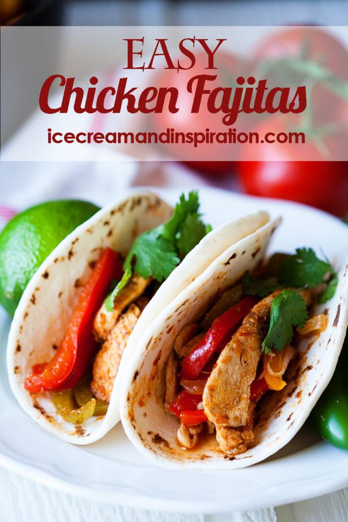 Make these super easy Chicken Fajitas with Simply Organic Classic Fajita Simmer Sauce! #OrganicMoments
