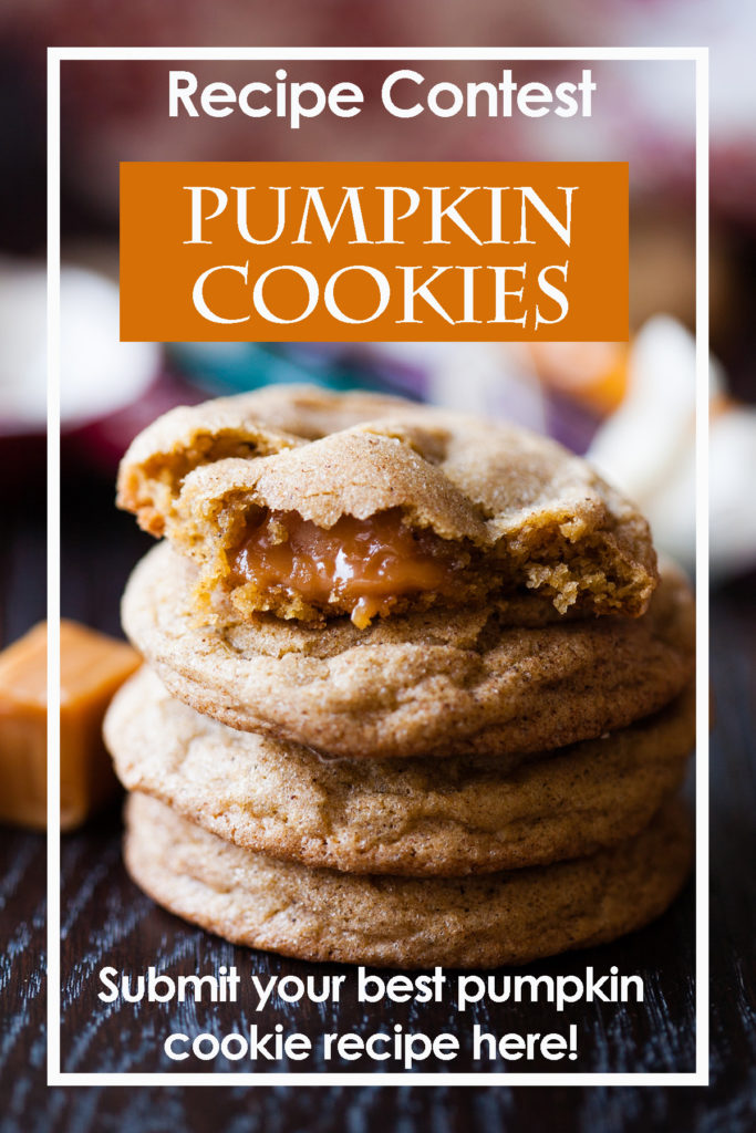 Do you have the best pumpkin cookie recipe in the land? I want to make it! Share it with me here, and I'll post the winning recipe (along with lots of pretty pictures) right here on the blog! You could be pumpkin cookie famous!