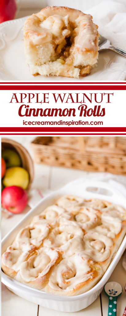 Want apple pie and cinnamon rolls all together? These Apple Walnut Cinnamon Rolls are the perfect blend of these classic fall flavors!