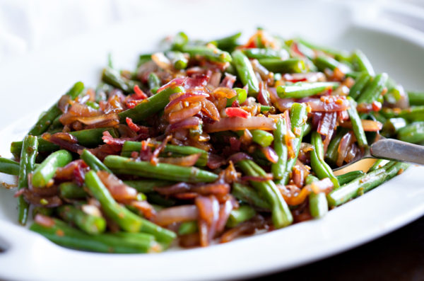Garlic Ginger Green Beans
