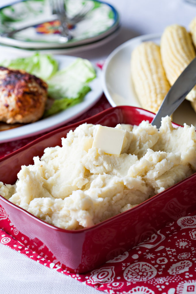 Cook's Country recipe for Garlic Mashed Potatoes.
