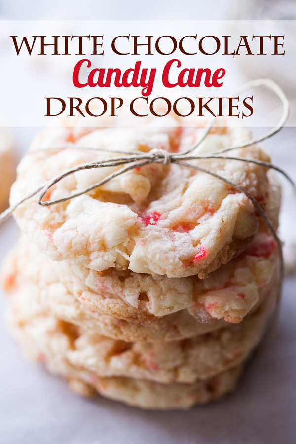 White Chocolate Candy Cane Drop Cookies Ice Cream And Inspiration