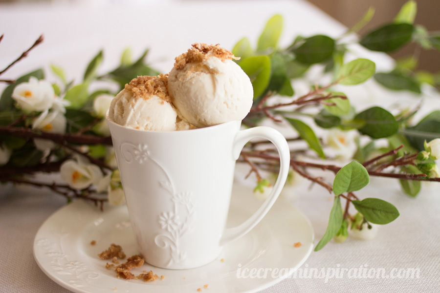 Pear Ice Cream by Ice Cream Inspiration. This lovely, subtly-flavored Pear Crumble Ice cream is the perfect finish to a heavy meal. Made with sauteed fresh pears, it is light, elegant, and easy to make! I've never seen a recipe for pear ice cream before, so this is definitely something to check out!