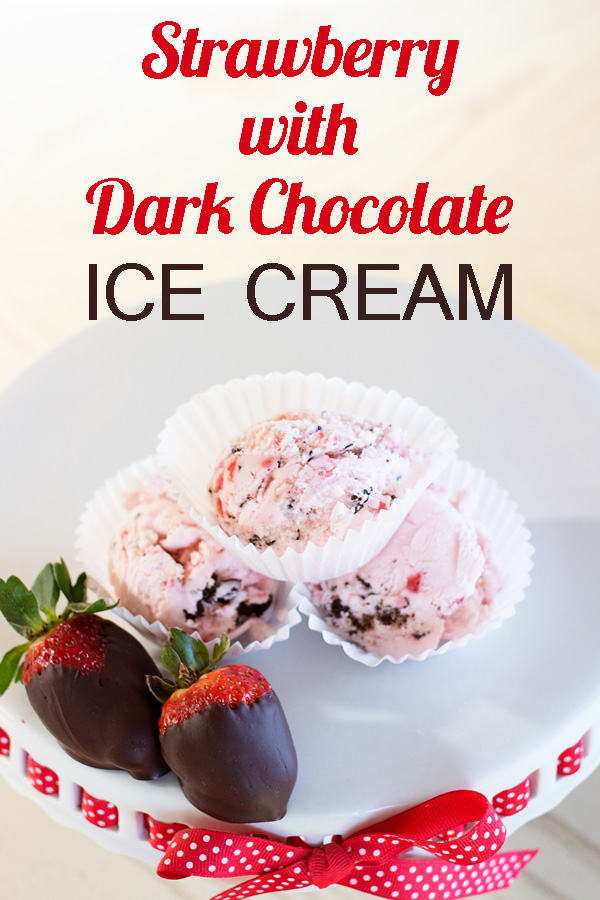 Strawberry with Dark Chocolate Ice Cream by Ice Cream Inspiration