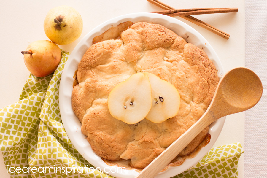 This no-crust pear pie could not be easier or more delicious! It's totally addictive. Watch it disappear before your eyes!