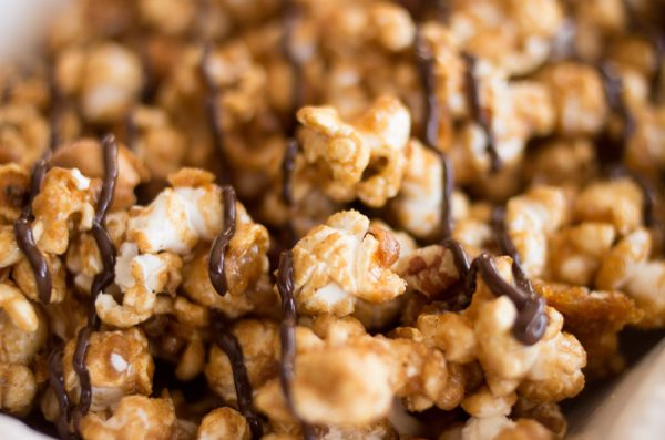 Orange Spice Caramel Corn