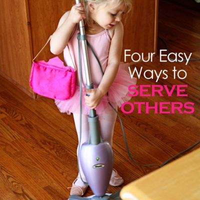 Service brings happiness! Here are four easy things you can do today!