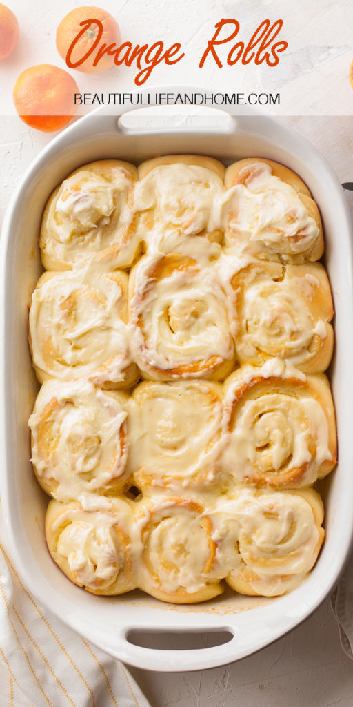 Easy orange rolls in just over an hour with a single rise in the pan! Super soft and fluffy and filled with orange zest, then topped with a delicious orange glaze. Or make them the night before and let them rise in the refrigerator, then bake in the morning! The perfect breakfast for Mother's Day, or any day of the year! Follow this easy step-by-step tutorial for no-fail orange rolls!