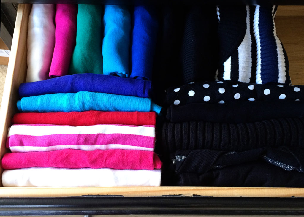 Learn the KonMari way to choose, fold, and store your tops. Your life will never be the same!