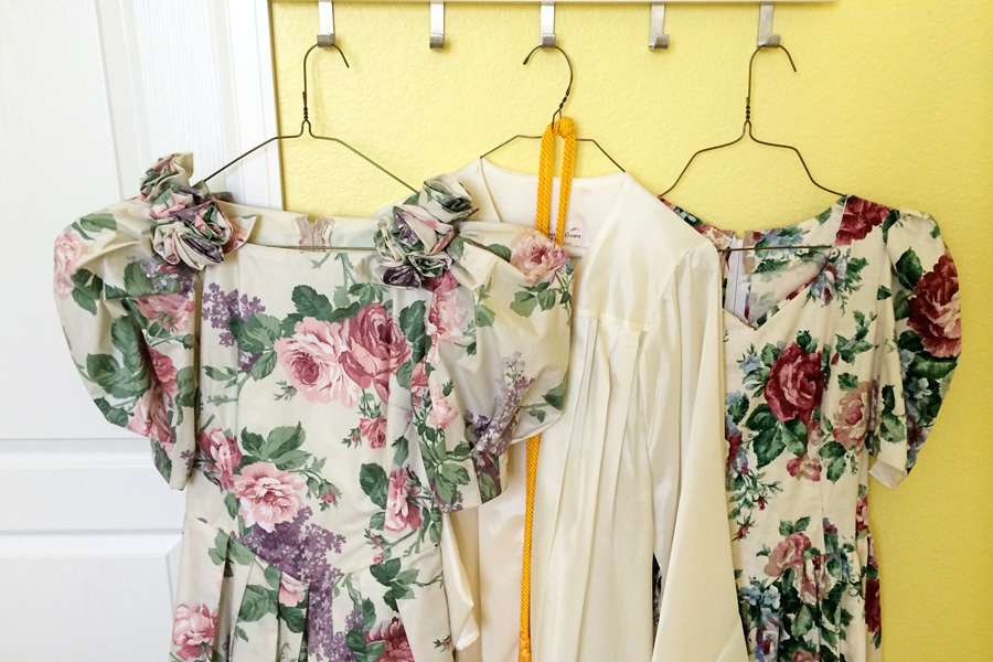 Are you hanging on to graduation gowns, bridesmaid dresses, and other things that have outlived their usefulness? Learn the KonMari way to decide what to keep and what to get rid of so you can experience true joy!