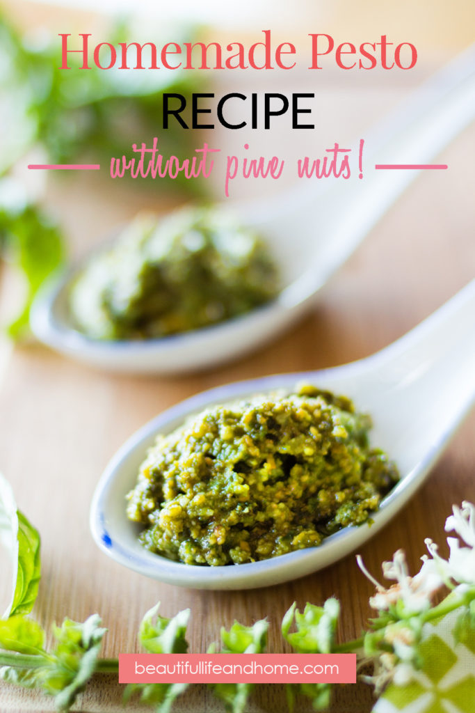 Homemade Pesto recipe without pine nuts.
