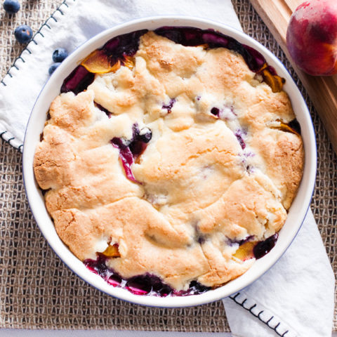 Crustless Peach Blueberry Pie Beautiful Life And Home