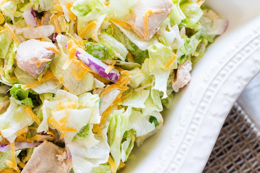 Tuna Salad by Ice Cream Inspiration. It's tuna. In a real salad. It's a tuna salad.