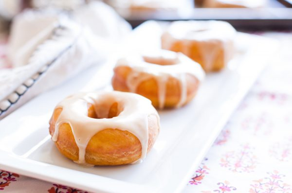 Pumpkin Doughnuts with Maple Glaze