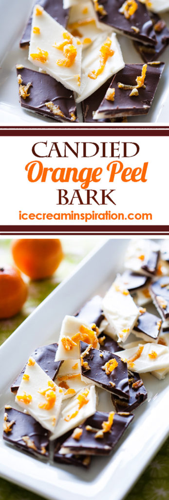 Candied Orange Peel Bark, Christmas almond bark, chocolate almond bark, Christmas candy