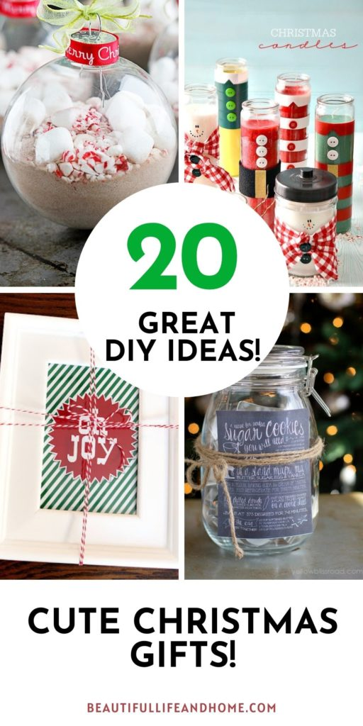 Looking for the perfect gift for the holiday season? If you want a special handmade gift for a family member, friend, or teacher, I've got you covered with these 20 cute Christmas gift ideas!
