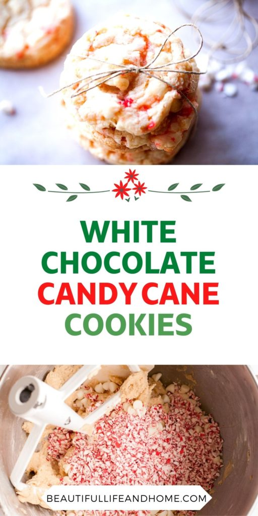 Use up all those candy canes in these AMAZING White Chocolate Candy Cane Cookies! They will be the star at your Christmas cookie exchange!