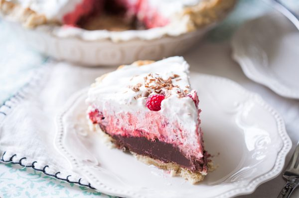 Chocolate Raspberry Cream Pie