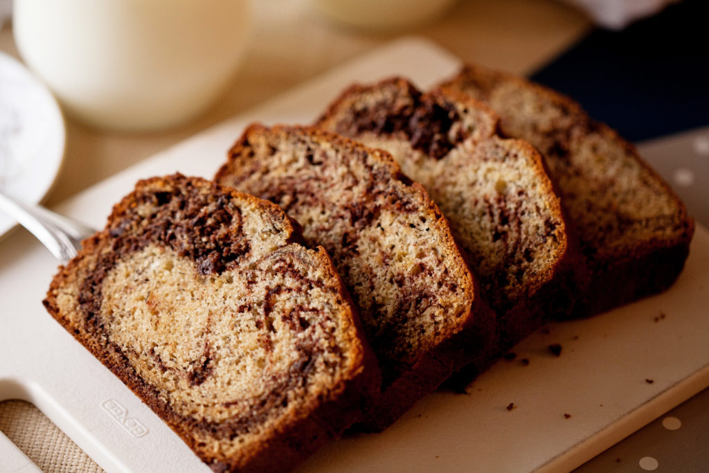 This Chocolate Marbled Banana Bread is Mom's classic banana bread with a delicious twist! Chocolate Banana Bread
