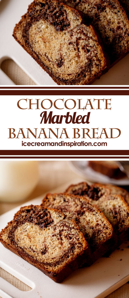 What could make banana bread better? How about a ribbon of chocolate? This Chocolate Marbled Banana Bread is classic banana bread with a delicious twist! Chocolate Banana Bread
